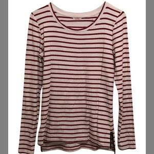 Red & White Striped Shirt with Elbowpads